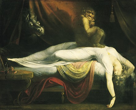 Johann Heinrich Füssli, The nightmare (1781) tratto da http://en.wikipedia.org/wiki/File:John_Henry_Fuseli_-_The_Nightmare.JPG