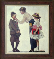 Norman Rockwell, First day of school, tratto da www.thecitadelle.org